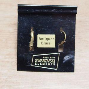 Liz Palacios Jewelry - Liz Palacios Antique Brass Swarovski Earrings